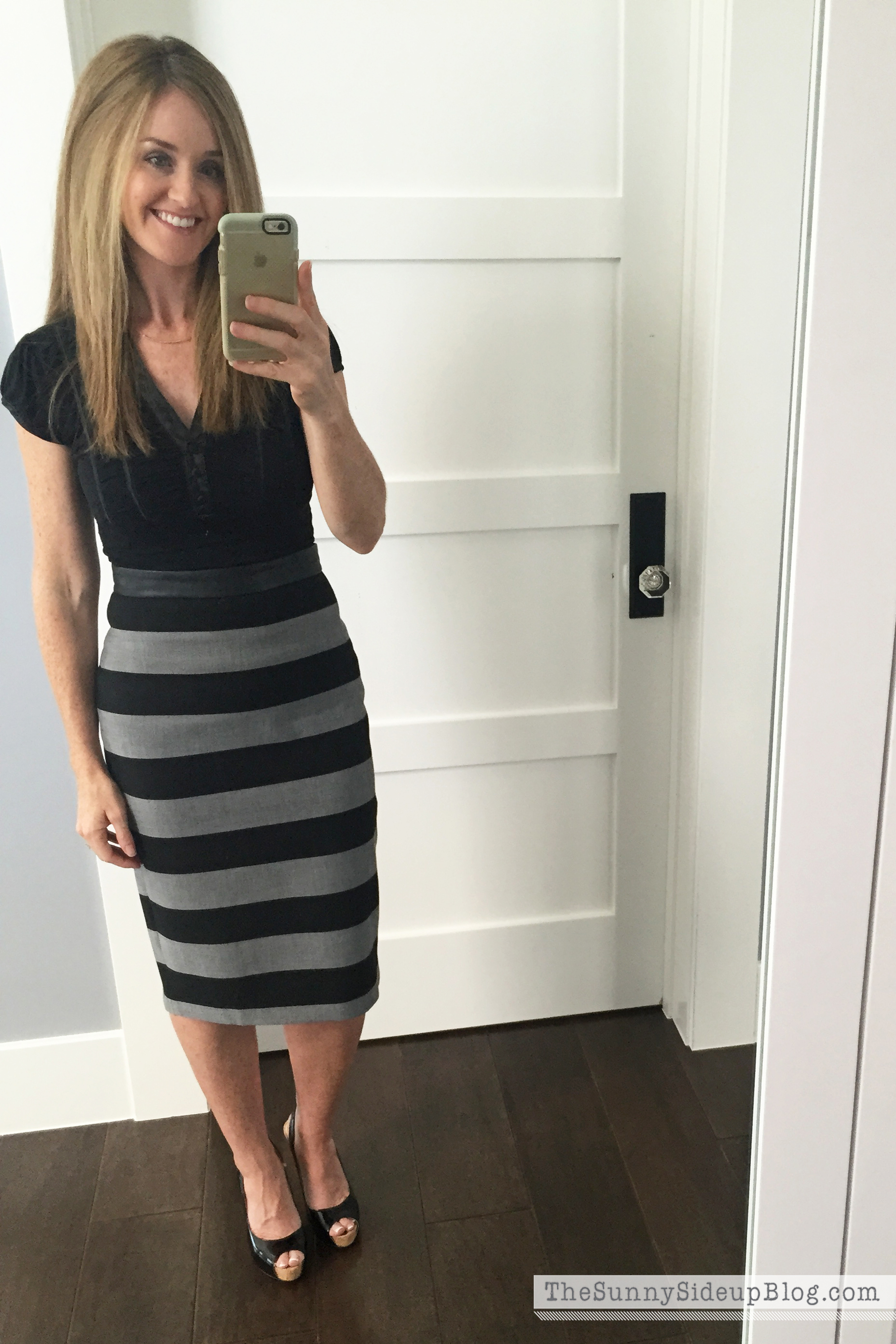 black and gray striped skirt | Gommap Blog