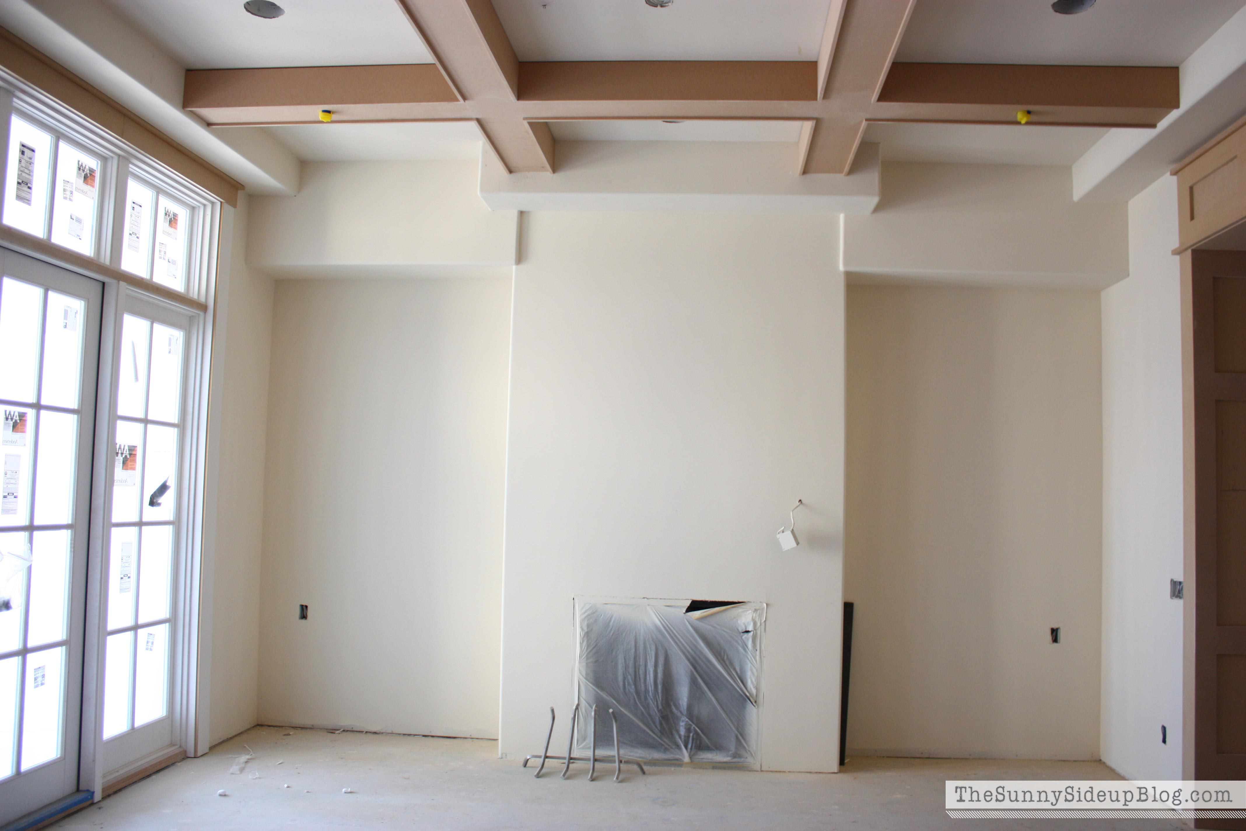 2 years building our house before and afters the sunny for Box beam ceiling