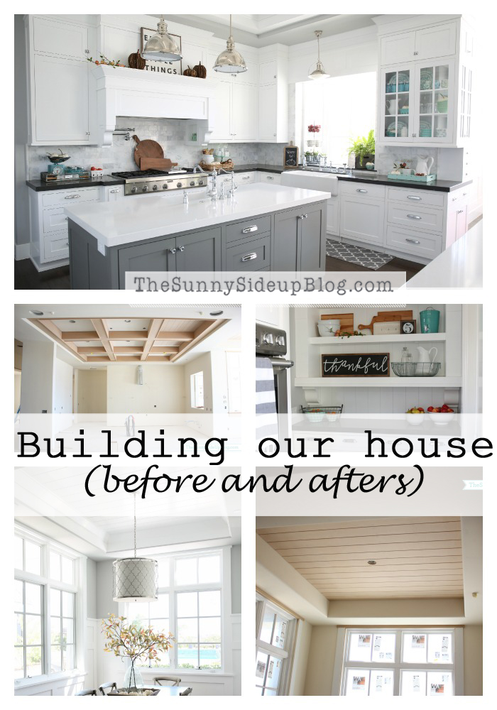 2 Years!  Building our house before and afters