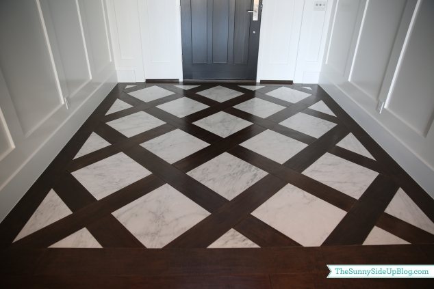 front entry wood-marble