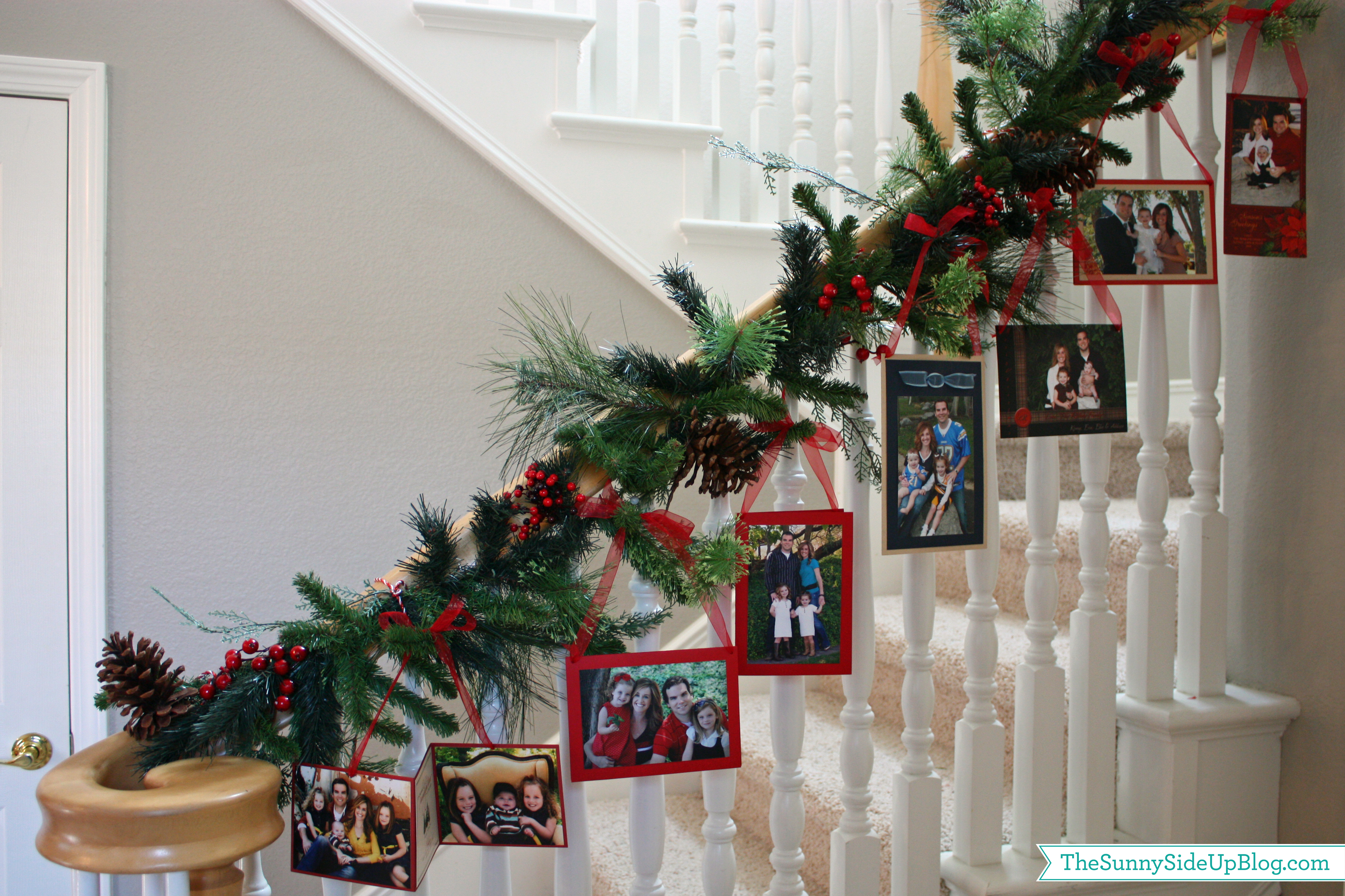 christmas card picture garland