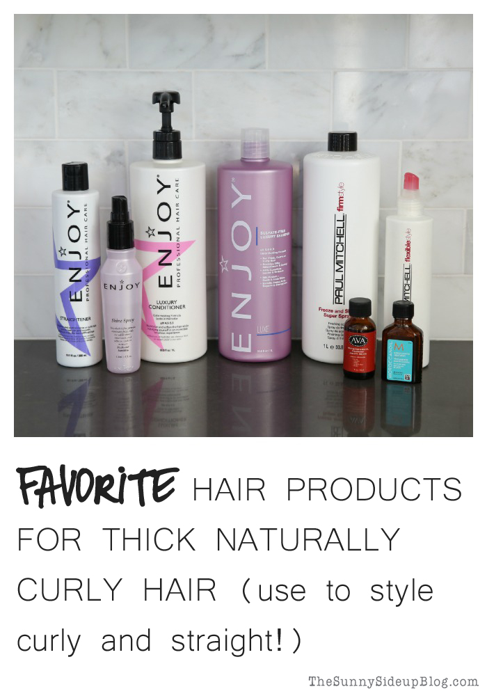 favorite hair products for thick naturally curly hair