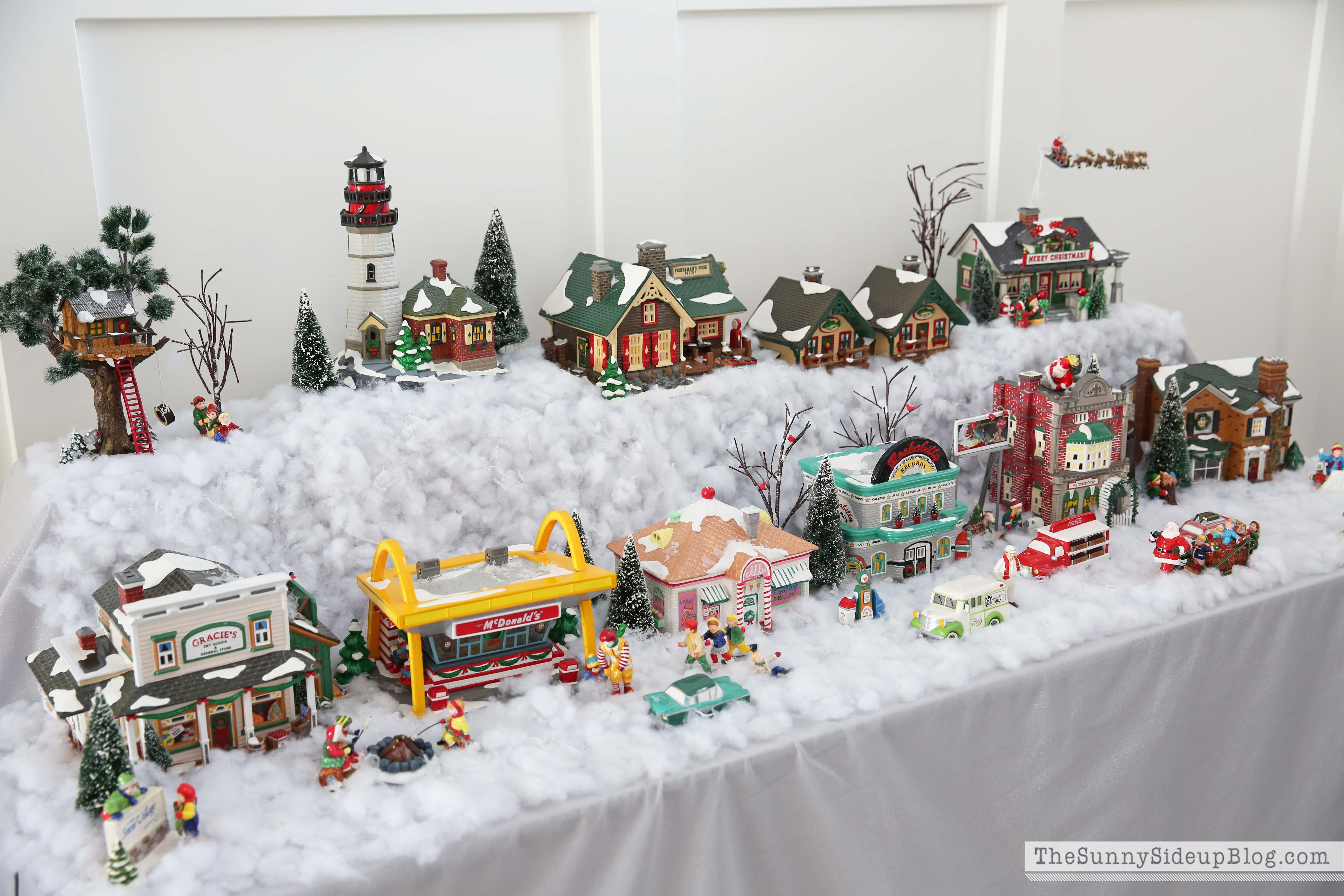 when i was growing up my mom collected this snow village and i have the best memories of having it displayed in our home every year at christmas