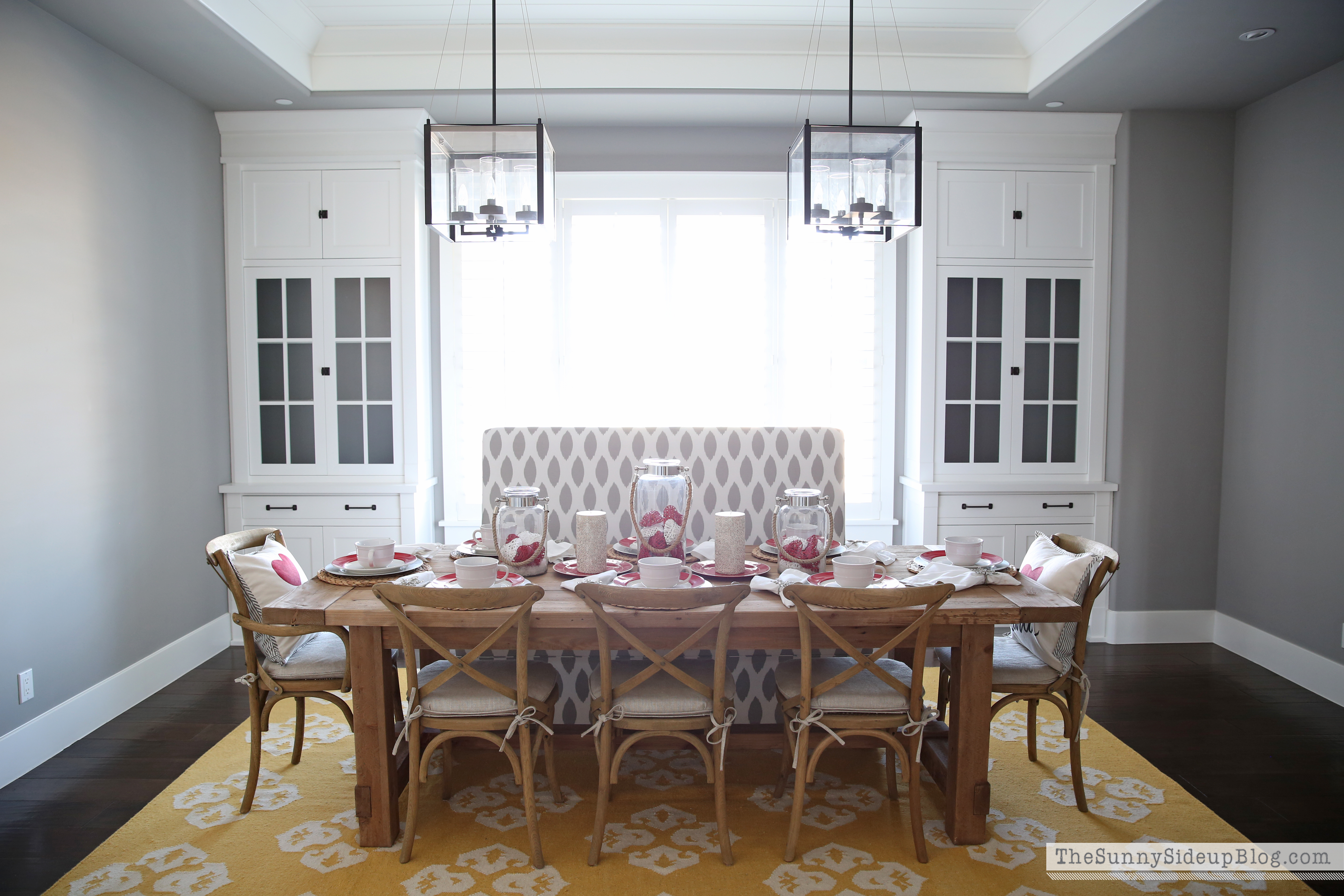 dining rooms decorated for valentines day dining best