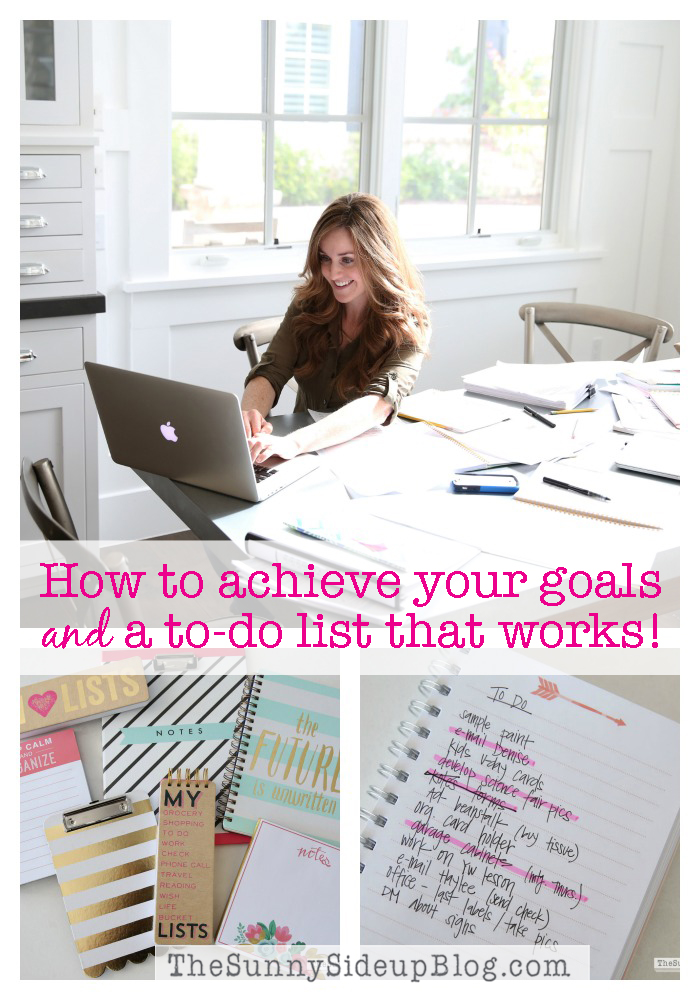 How to achieve your goals and a to-do list that works