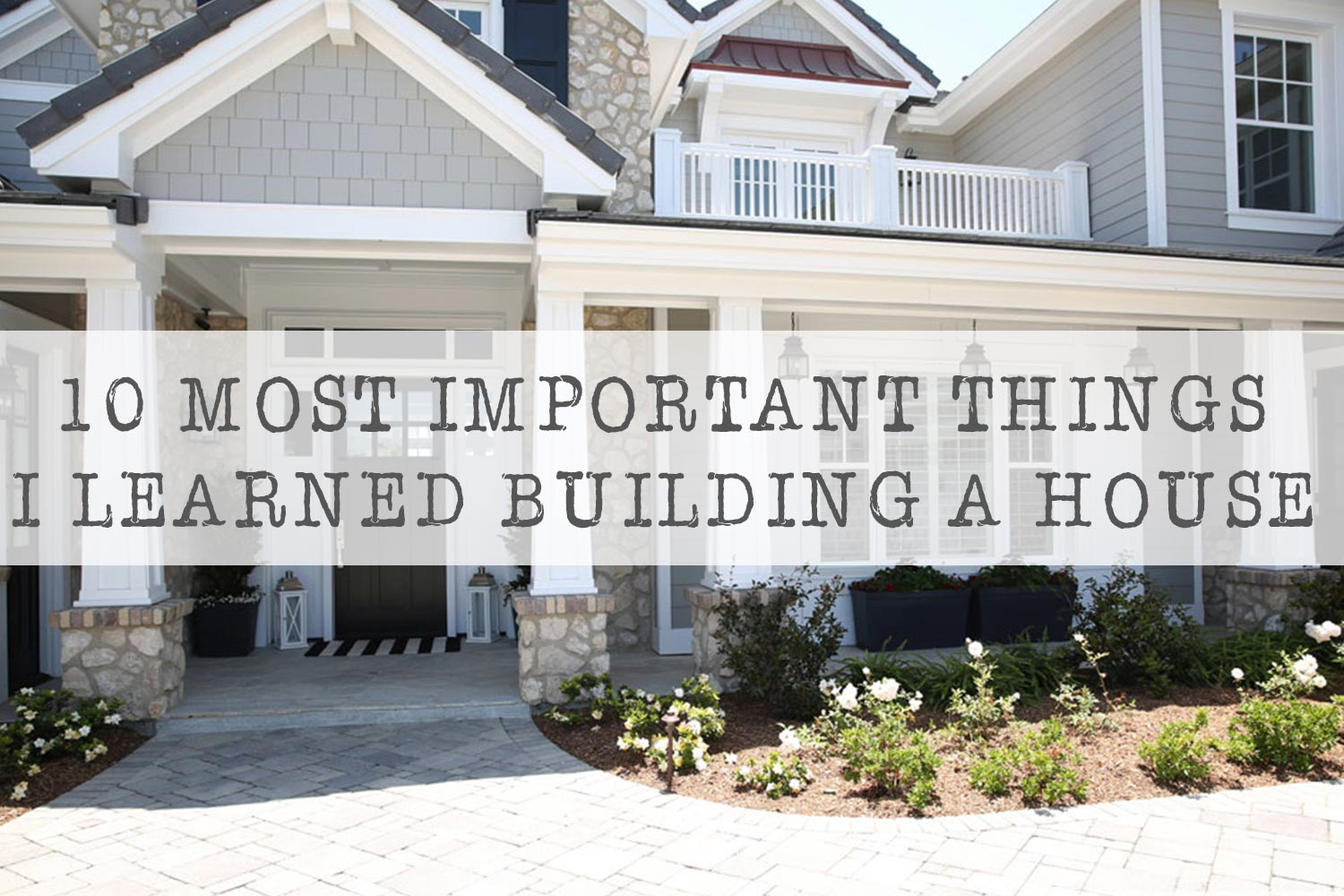 The 10 most important things I learned building a house The Sunny – Happy Days House Floor Plan