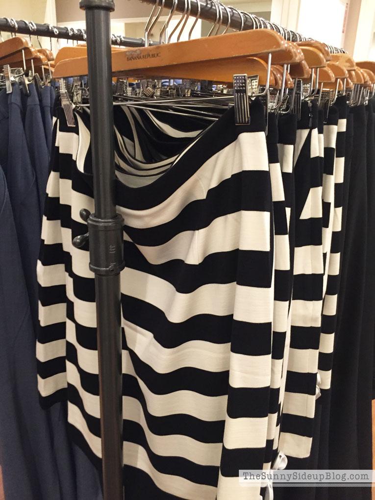 black-and-white-striped-skirt