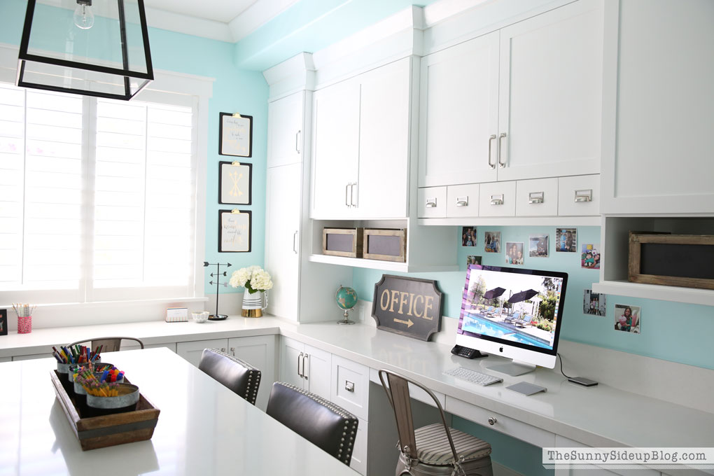 Incredible Decorated Office Craft Room The Sunny Side Up Blog Largest Home Design Picture Inspirations Pitcheantrous