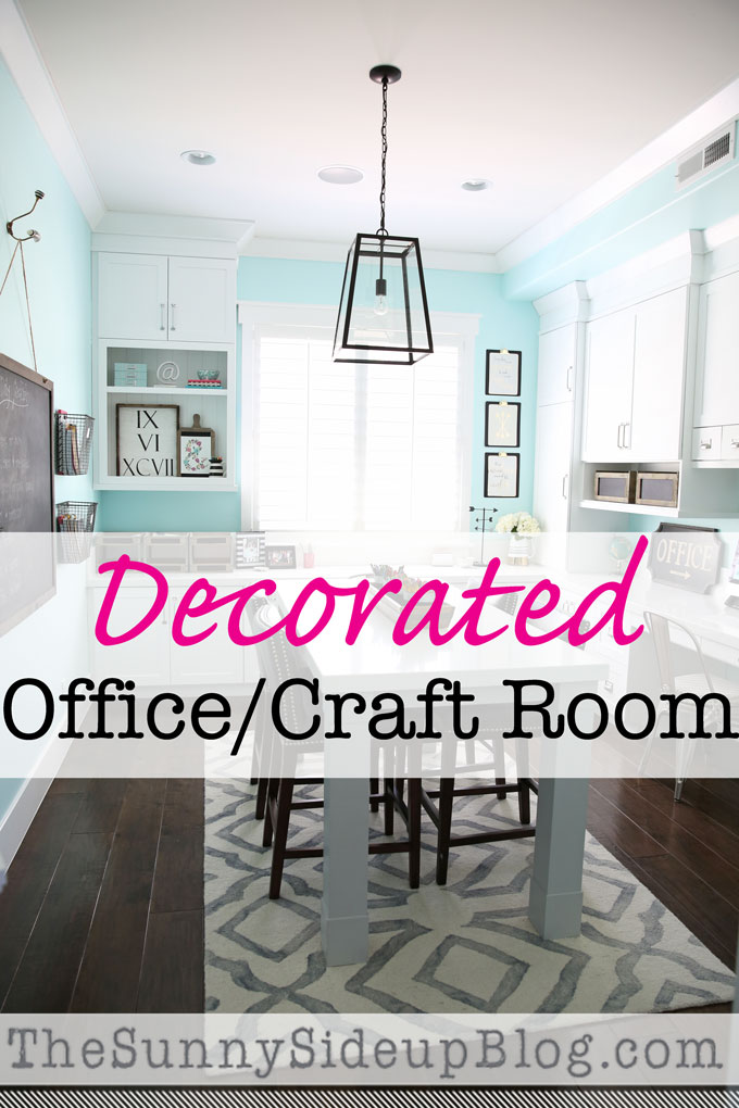Decorated Office Craft Room The