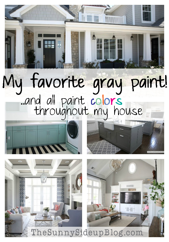 My Favorite Gray Paint! (and all paint colors throughout my house)