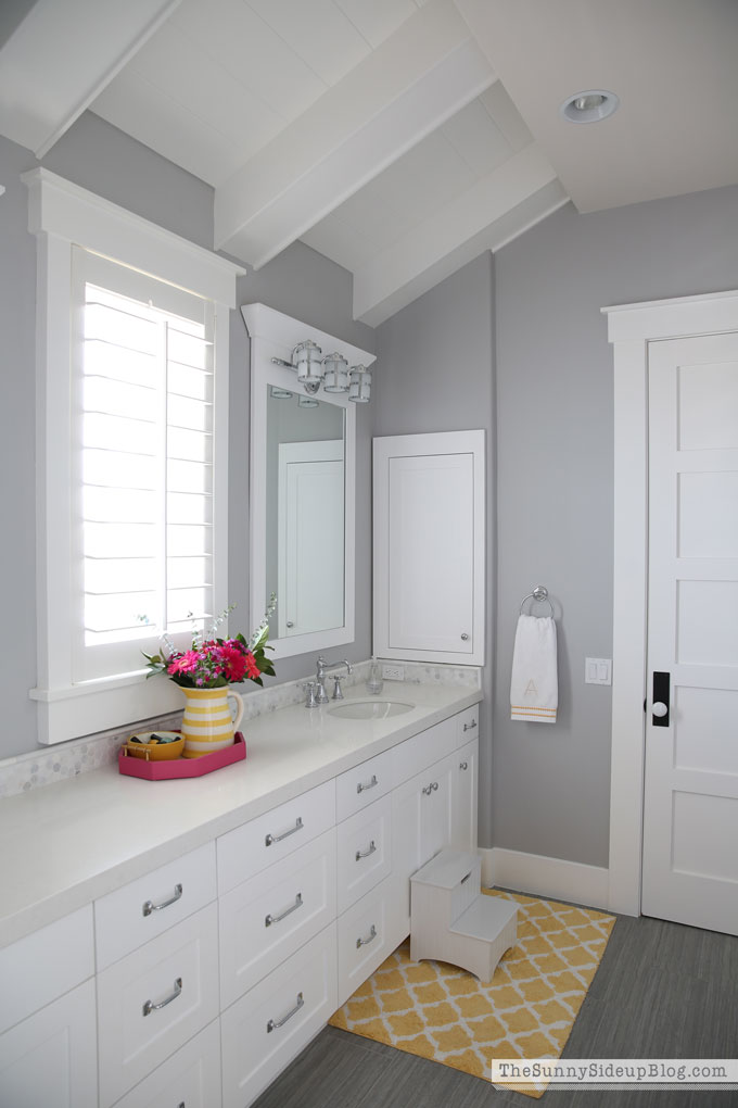 My favorite gray paint and all paint colors throughout for Bathroom models images