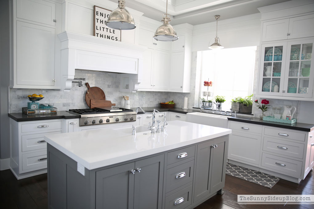 Gray Benjamin Moore Walls White Kitchen
