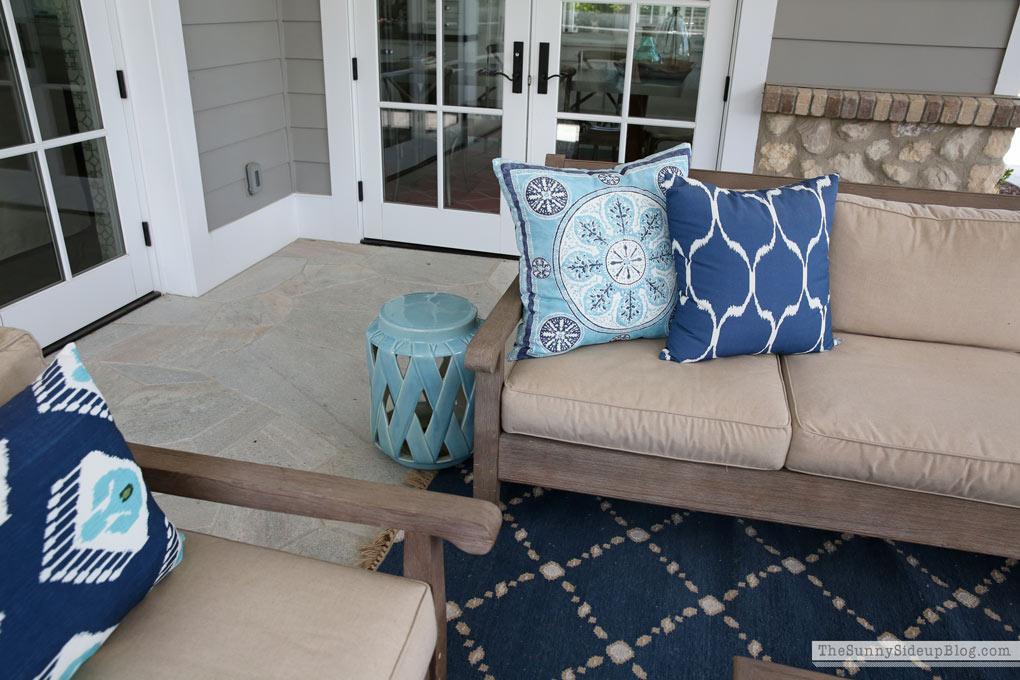 blue-garden-stool