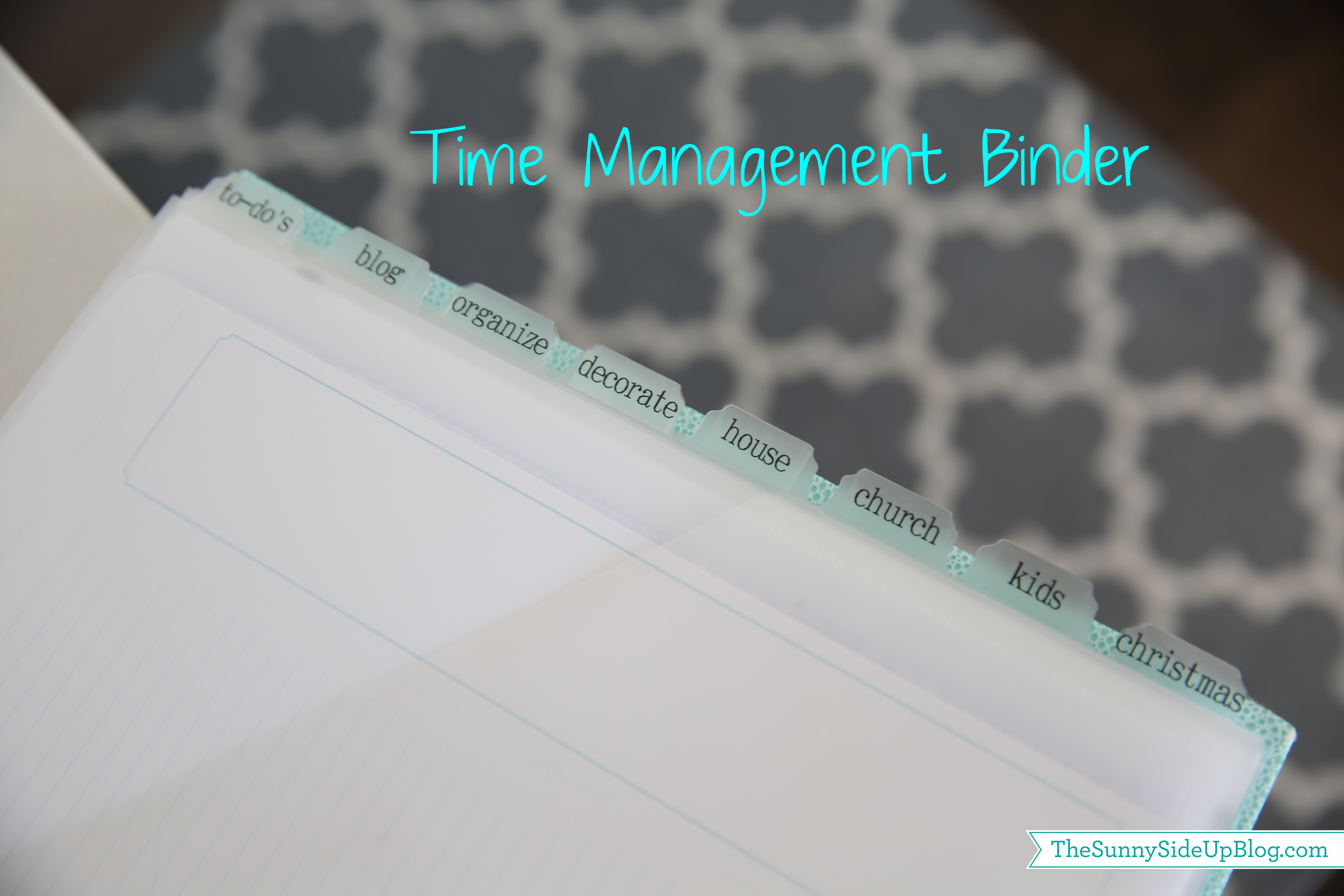 time management binder2