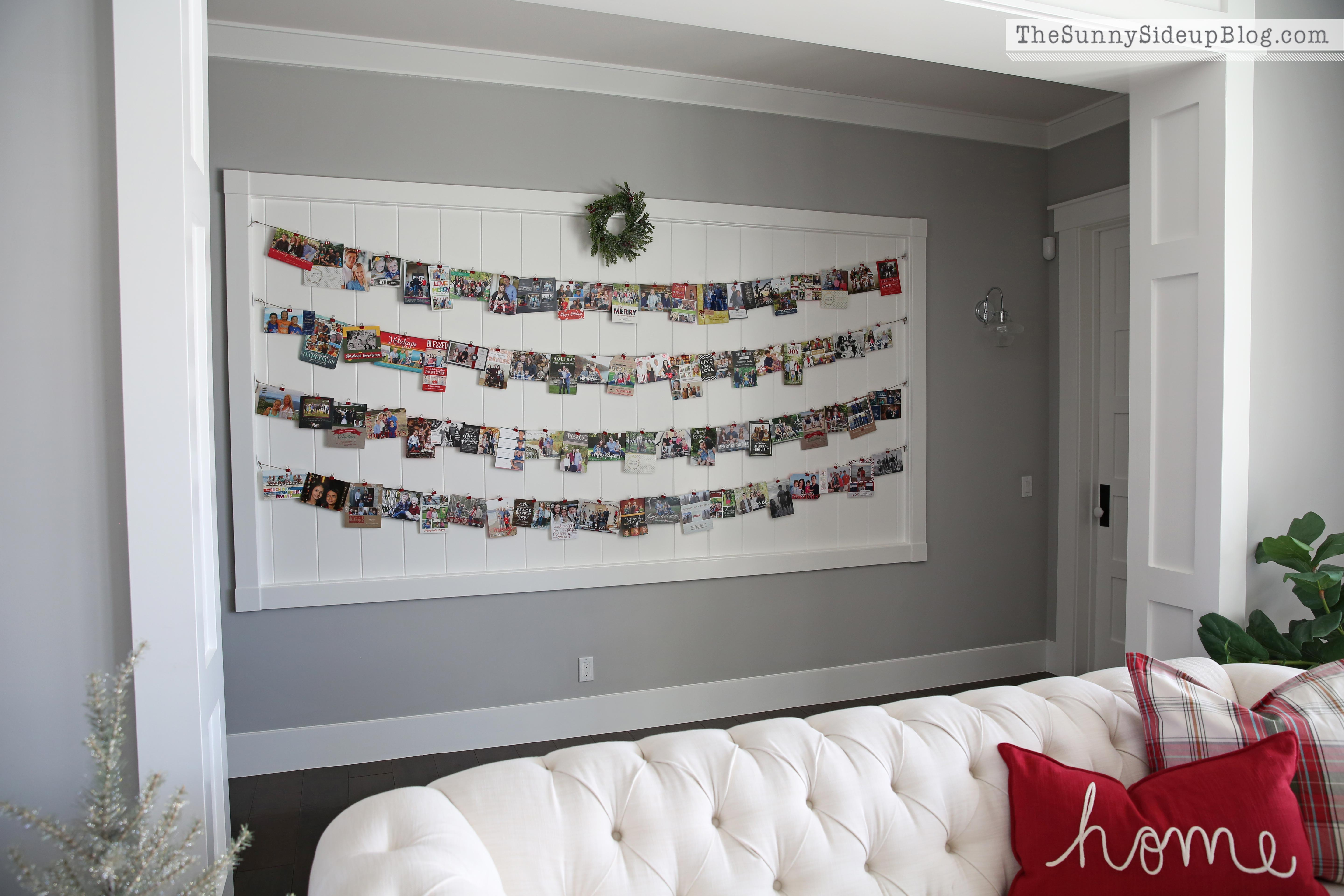 Shiplap Display Wall