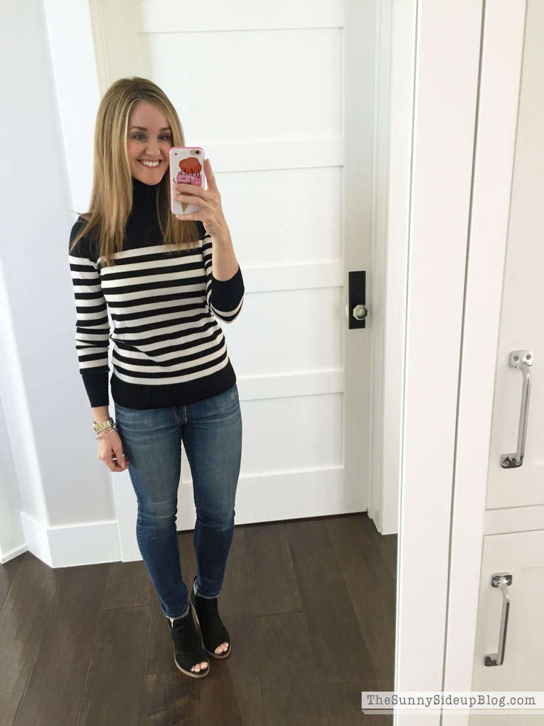 black-and-white-striped-shirt