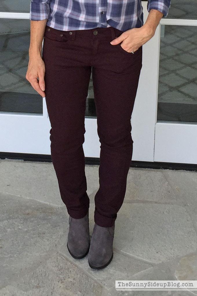 maroon-pants