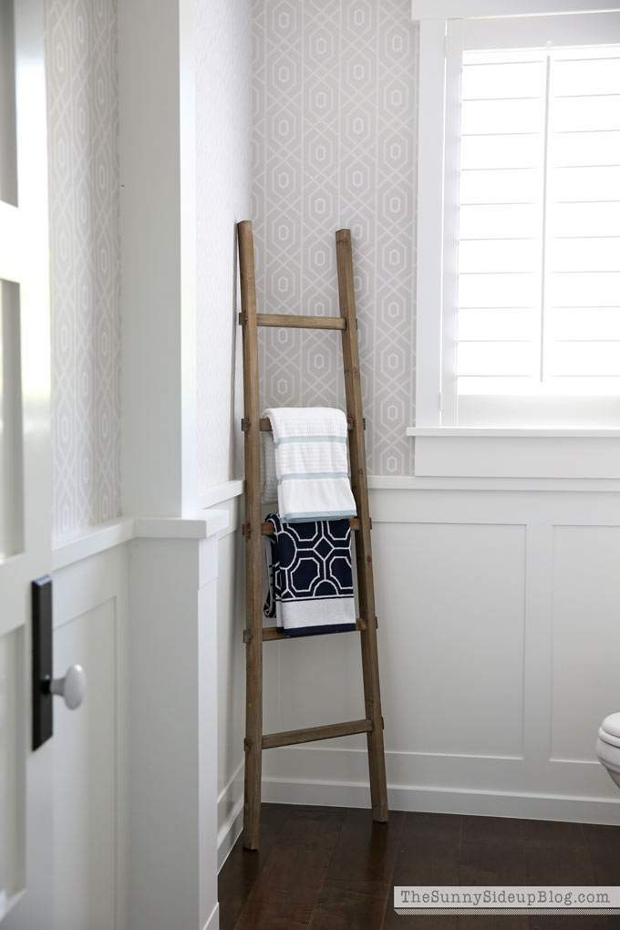 towels-on-a-ladder
