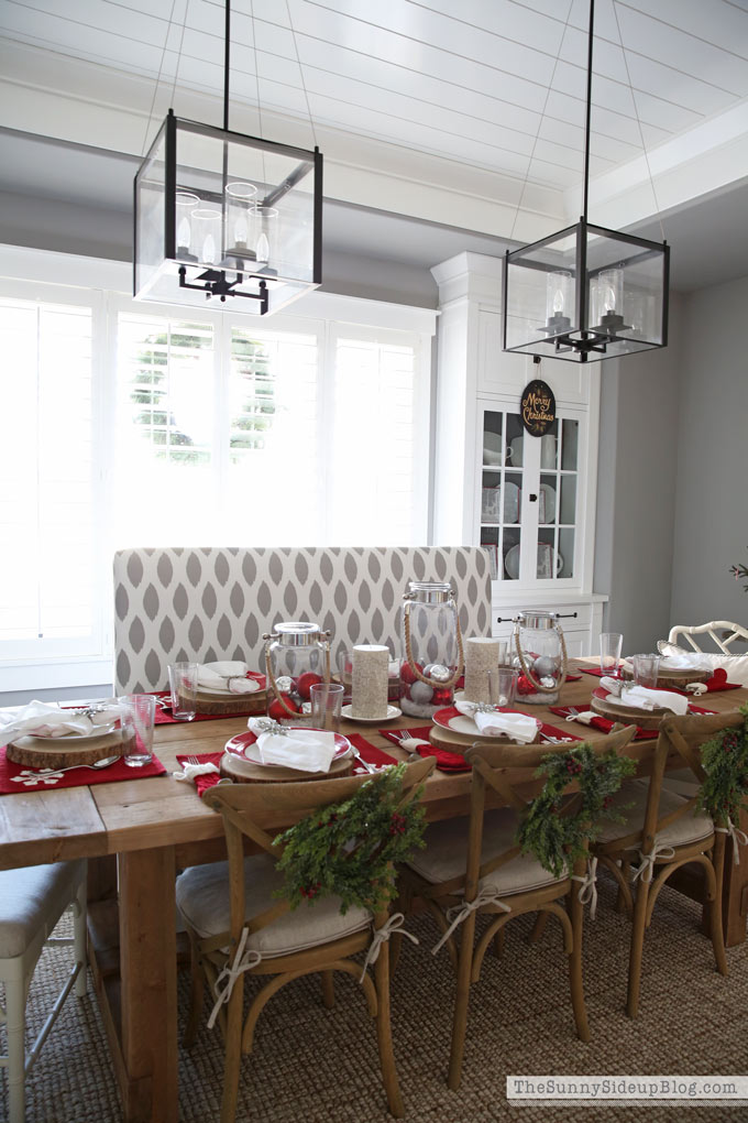 christmas tablescape - holiday entertaining tour