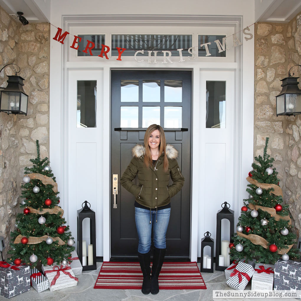christmas front porch green topshop coat - Christmas Front Porch