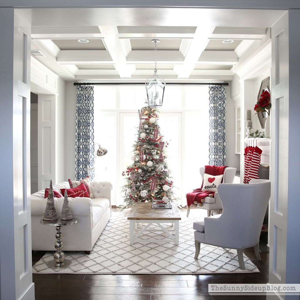 Christmas Formal Living Room (Decked and Styled Home Tour) - The ...
