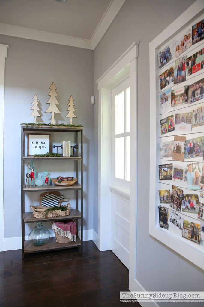 Christmas Card Display and a Snowflake Wall