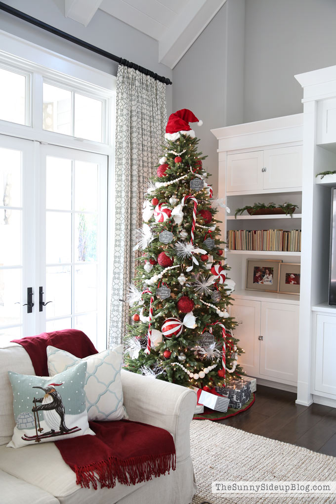 Christmas in the Family room!  A Holiday Home Showcase.