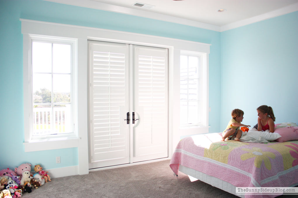 I Debated Using Drapes In These Rooms, But Decided To Go With Plantation  Shutters When We Built The House And They Have Been Perfect To Keep Out The  Hot Sun ...