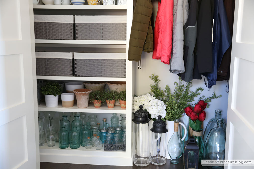 ... But For Now They Fit So Perfectly In This Closet! The Other Basket  Holds Some Greenery And The Last One Is Empty For Now! YEA! Room To Spare.  :)