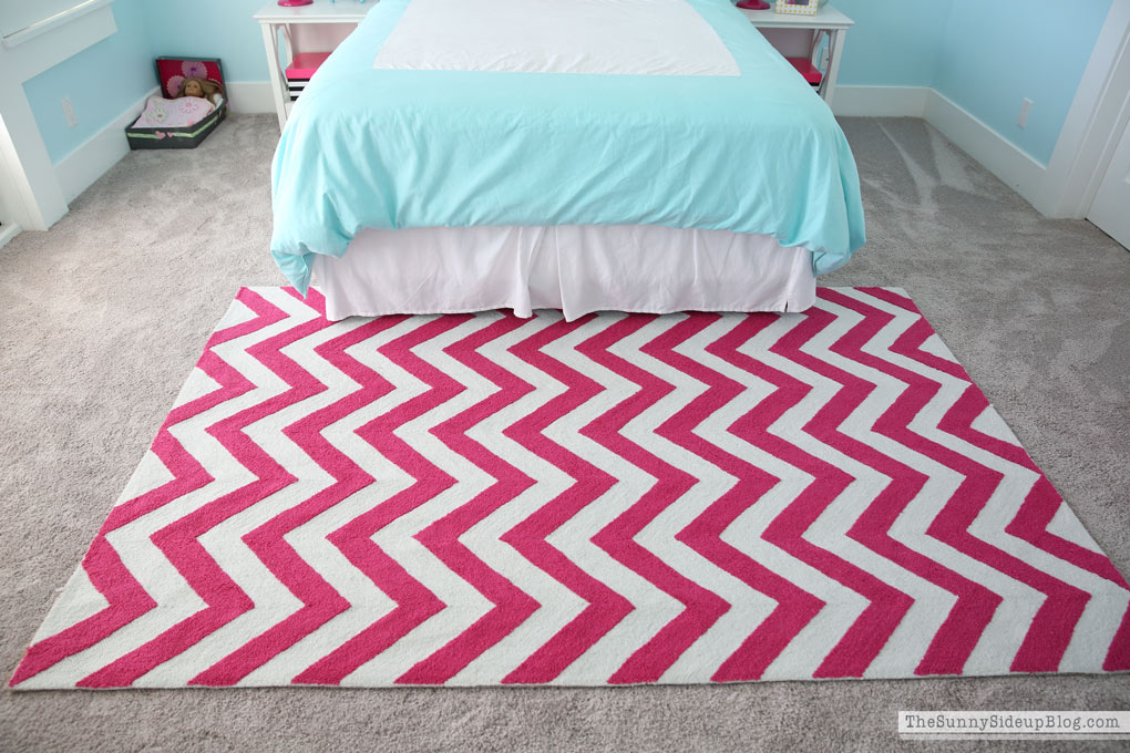 She Also Really Wanted A Pink Chevron Rug! I Canu0027t Remember Where I  Purchased This But You Can Find One Almost Identical Here. And Yes!