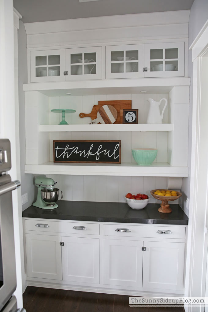 Popular I switched the decor around in my butler us pantry too Mostly just so that I could add my favorite new mixing bowl and my marble wood serving board