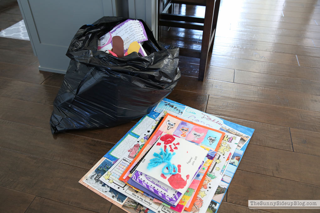 Kids' School Work (what to save and what to toss)