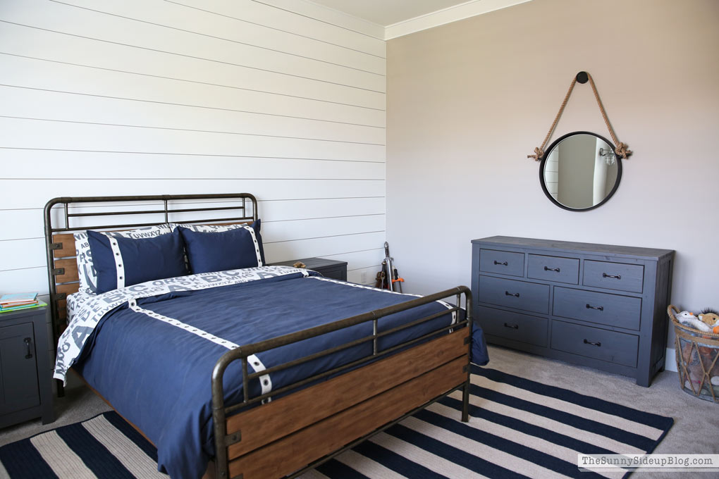 Nautical Industrial Boy's Bedroom (progress!)