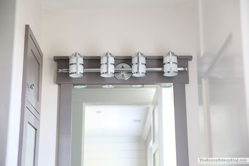 I Had Similar Custom Mirrors Made In My Girlsu0027 Bathroom And I Used The Same  Light Fixture That I Used In Their Bathroom Too.