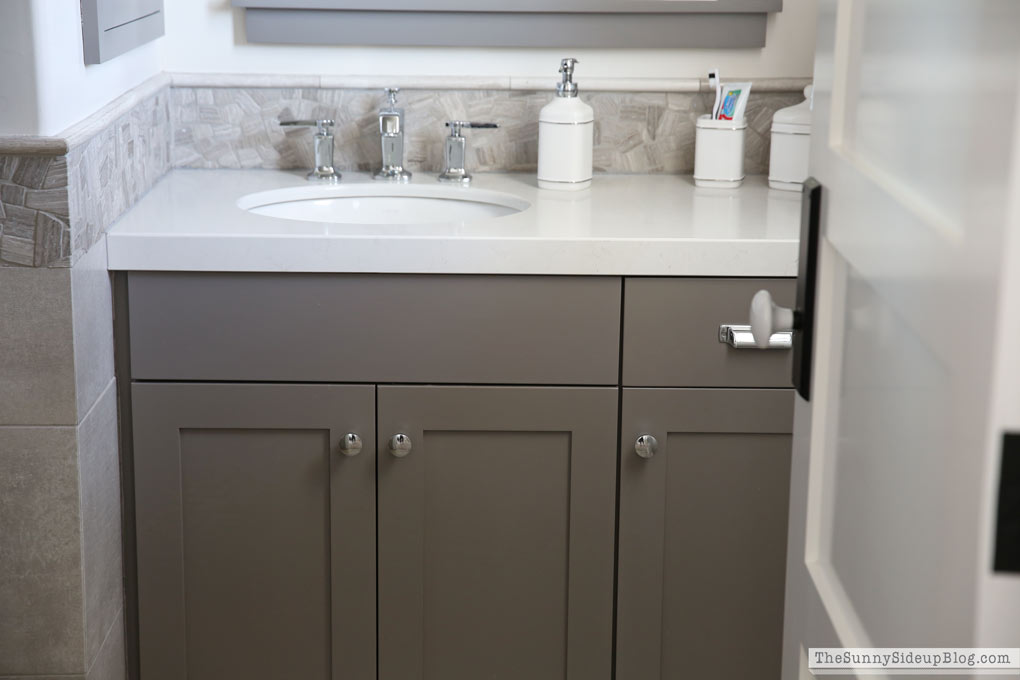 exact gray color cabinets custom brown mix tweaking looked white bathroom cabinet walmart vanities home depotca vanity depot calgary