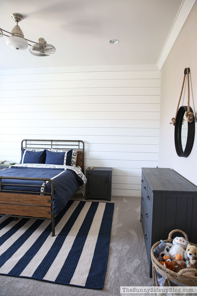 Nautical industrial boy 39 s bedroom progress the sunny for A p furniture trail