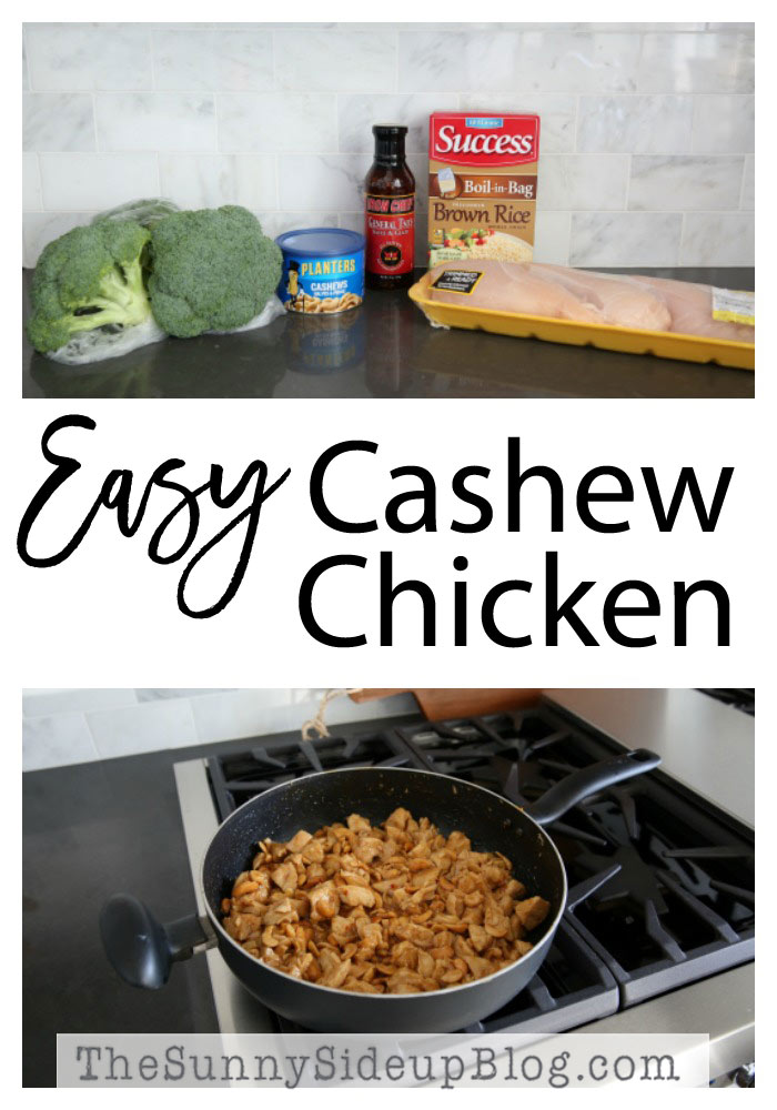 Easy Cashew Chicken (Sunny Side Up)