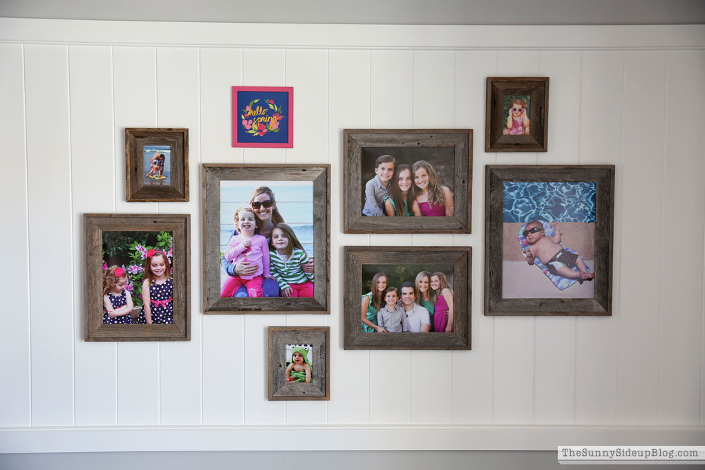 Creating a coordinated gallery wall - The Sunny Side Up Blog