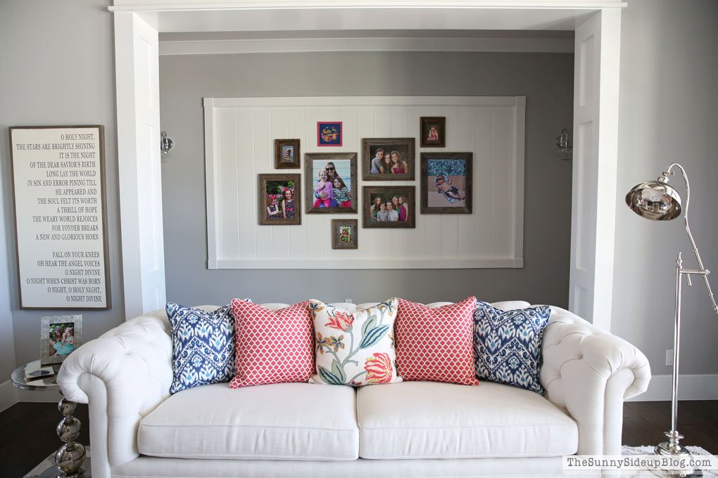 Best Quality Living Room Interior Design. Finally Getting My Gallery Wall  Updated With Fun Summer Pictures Inspired Me To Want To Re