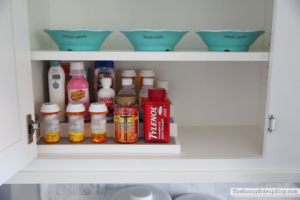 Organized Medicine Cabinet (take 2!)
