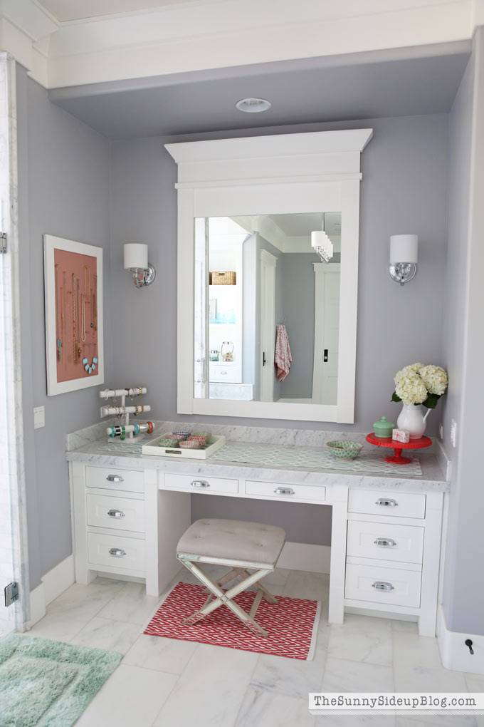 Organized Vanity Drawers