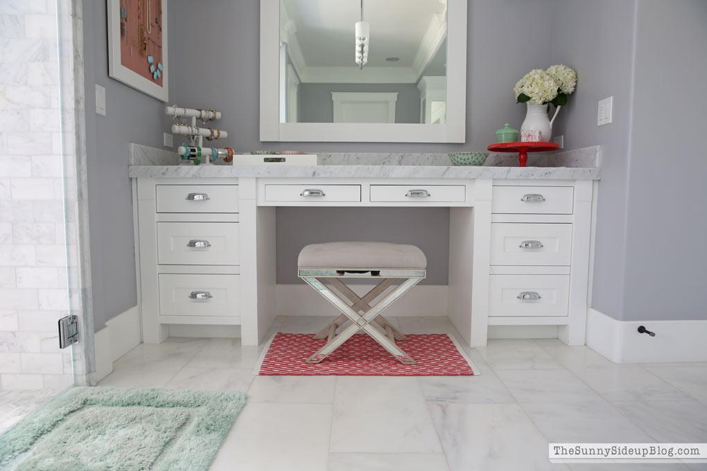 Organized Hair Tool and Bathroom Drawers