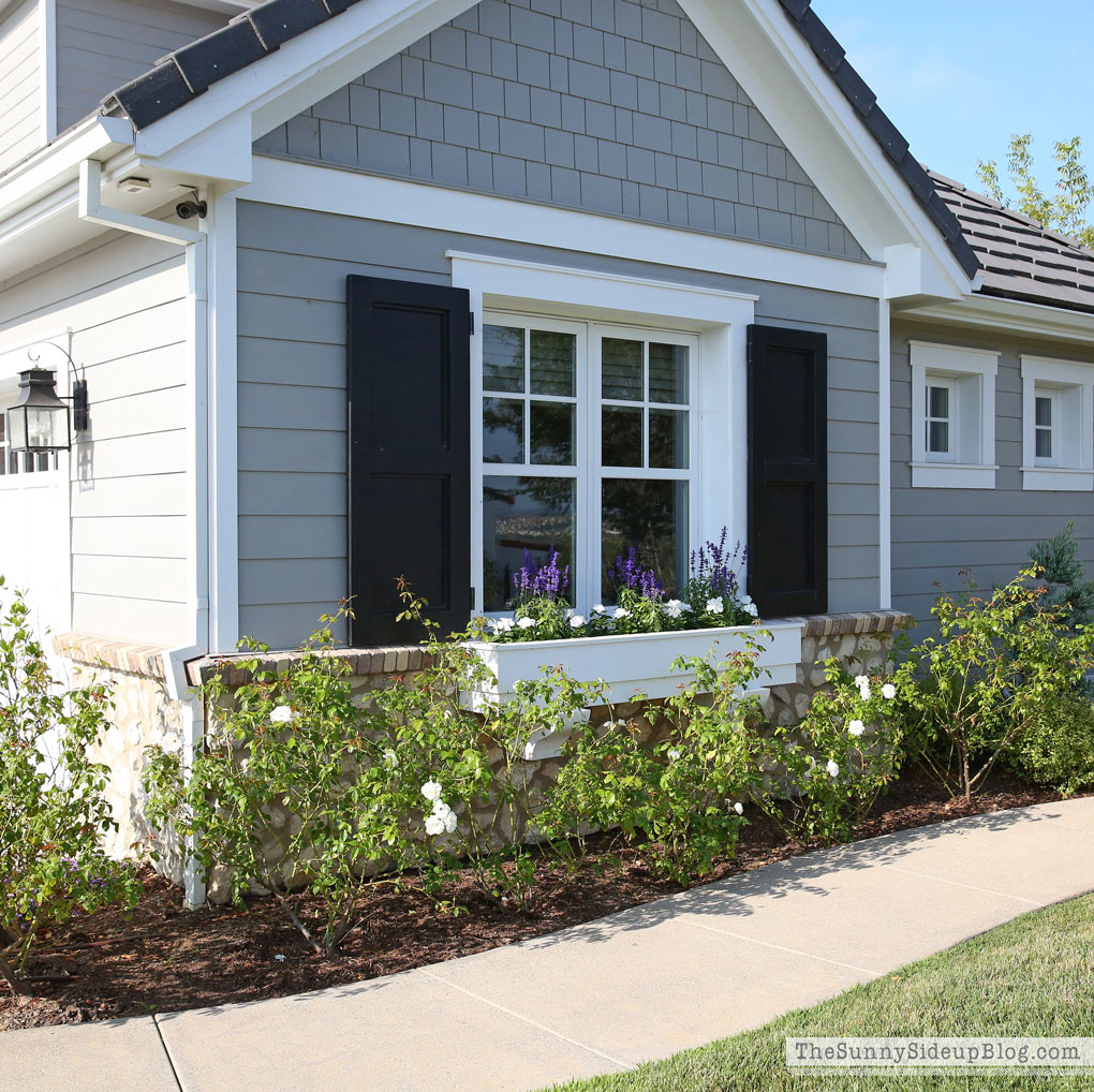 Saying good bye to summer the sunny side up blog for Craftsman style window boxes