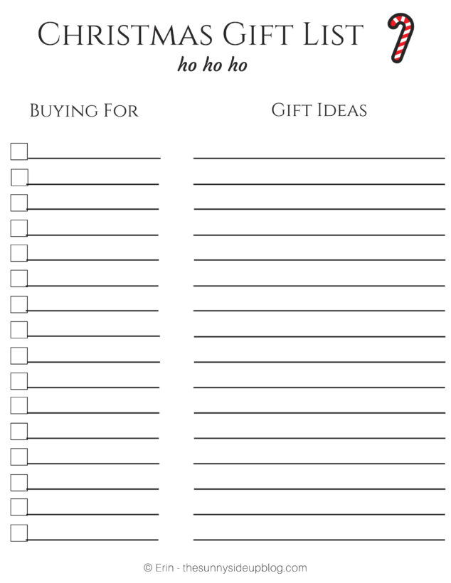 image about Christmas Gifts List Printable called Free of charge Xmas Printables for Prepared Reward Delivering! - The