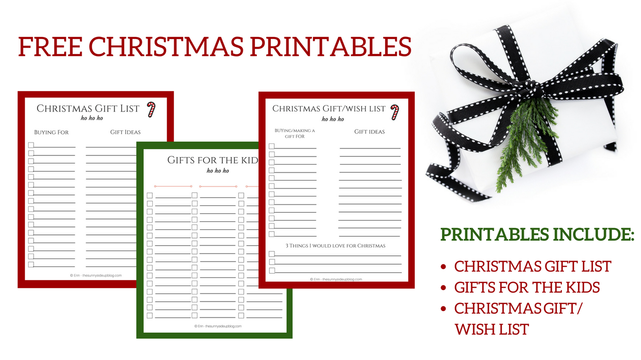 Free Christmas Printables For Organized Gift Giving!  Free Christmas Wish List