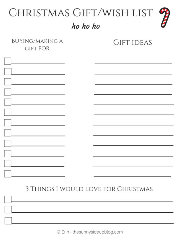 Printable Christmas Wish List For Kids.Free Christmas Printables For Organized Gift Giving The