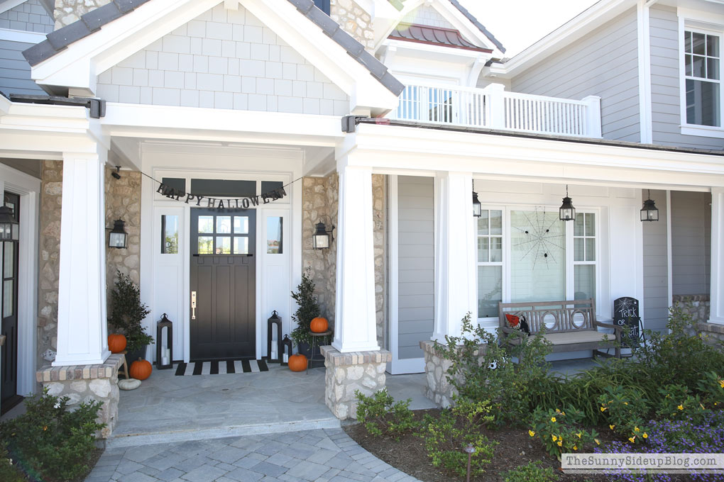 Coastal Craftsman Home - Halloween Decor - (Sunny Side Up)