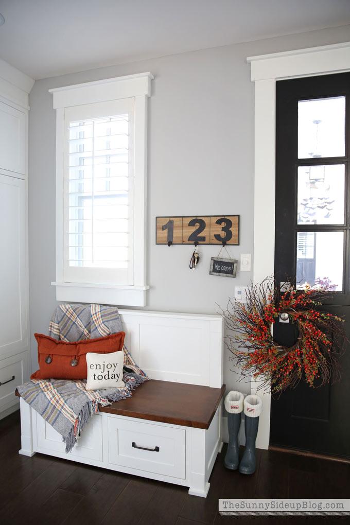 custom-mudroom-bench-black dutch door