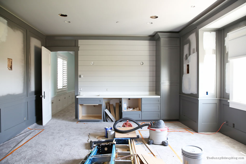 Theatre Room/Grey Built-ins/Shiplap