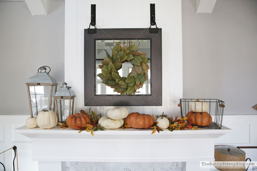 mantel decor (Sunny Side Up)